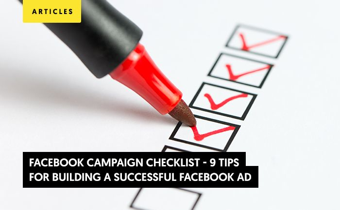 9 Tips for Building a Successful Facebook Ads